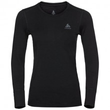ODLO Natural 100% Merino Warm Crew l/s Donna