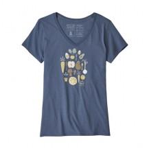PATAGONIA Harvest Haul Org. V-Neck T-shirt Donna